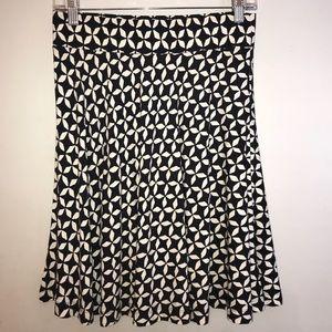 Navy & white patterned above the knee skater skirt